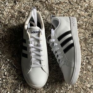 Adidas Black and white striped sneakers